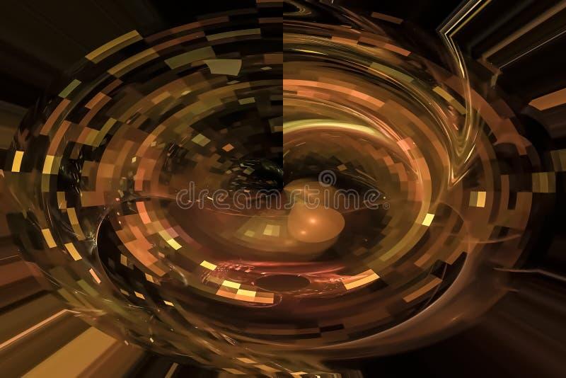 幻想摘要作用意想不到的纹理爆炸闪闪发光想象力分数维,发光的数字未来派 皇族释放例证