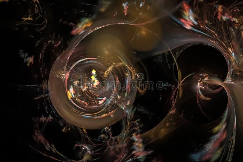 幻想摘要曲线作用意想不到的爆炸闪闪发光想象力分数维,发光的背景图表数字未来派 皇族释放例证