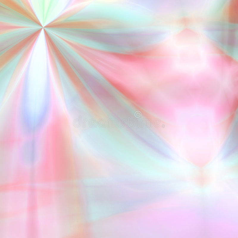 幻想花柔和的淡色彩 库存例证