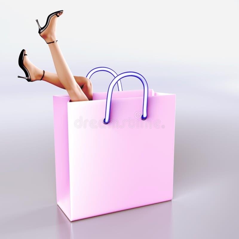 幻想购物 向量例证