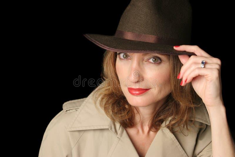 幻想间谍妇女 库存照片