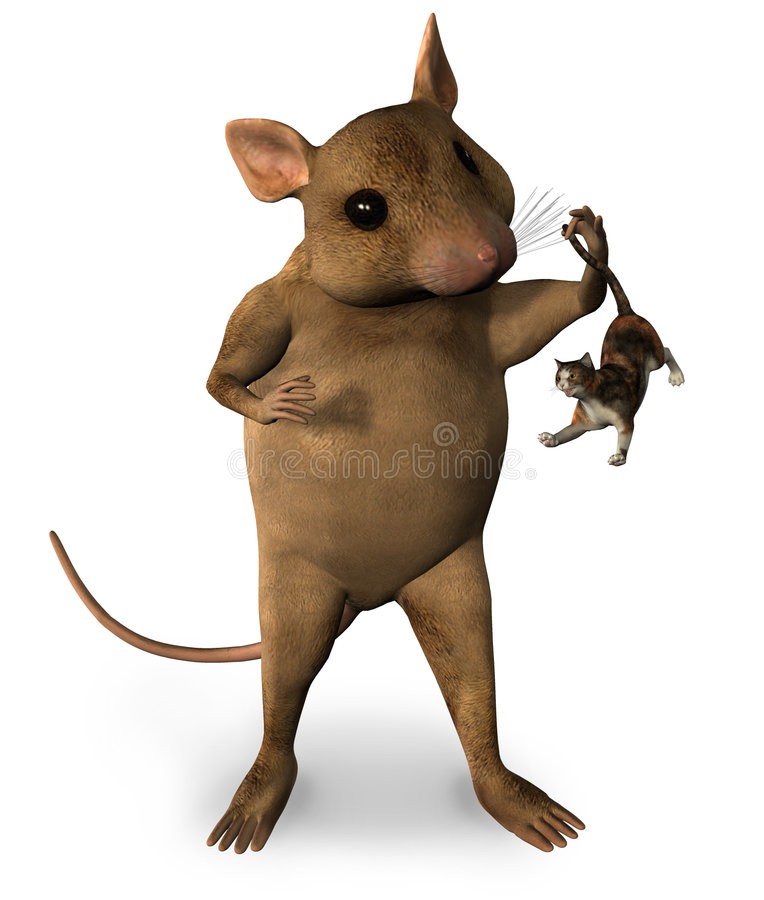 幻想鼠标 皇族释放例证