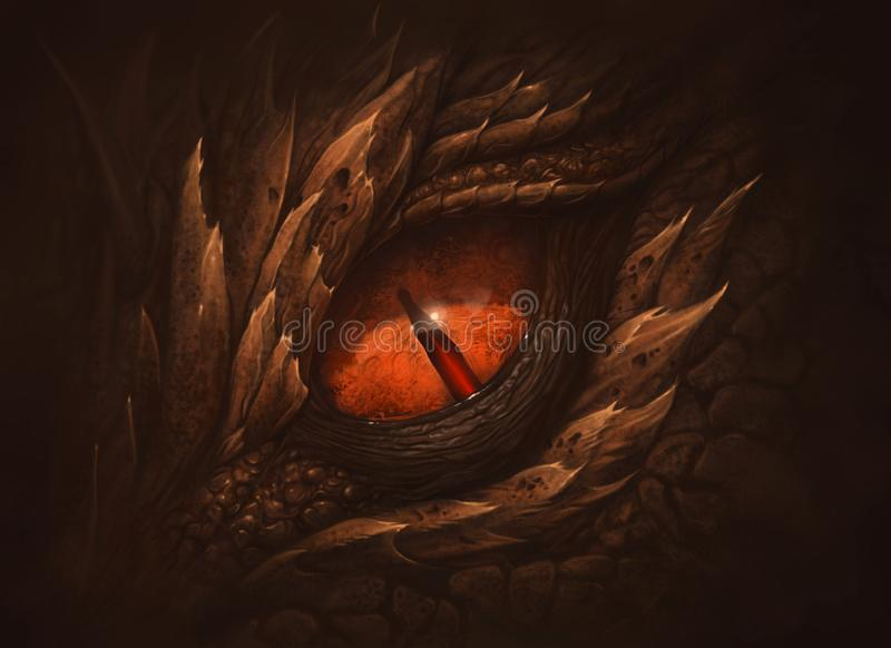 幻想龙的眼睛 皇族释放例证
