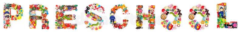 幼儿园组成玩具 免版税库存照片