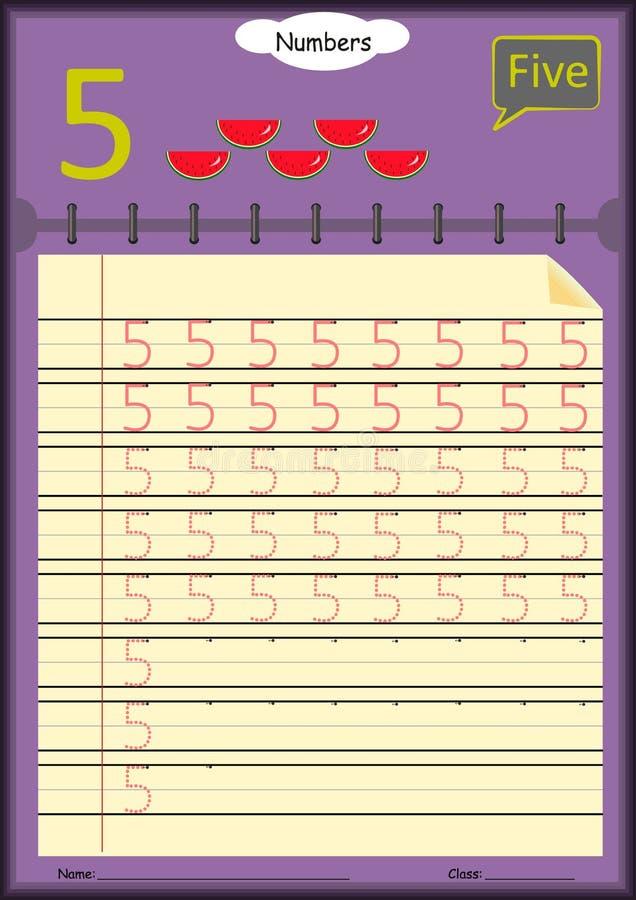 幼儿学会写数字,孩子的家庭作业 皇族释放例证
