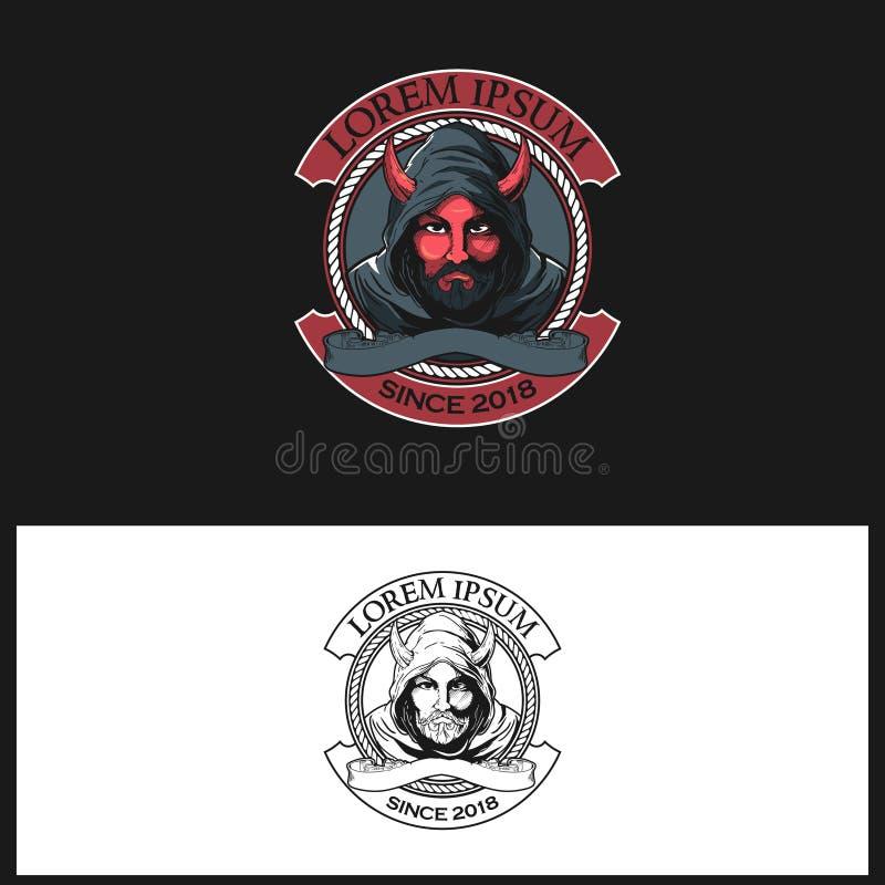 幽灵人用途敞篷传染媒介徽章商标模板 向量例证