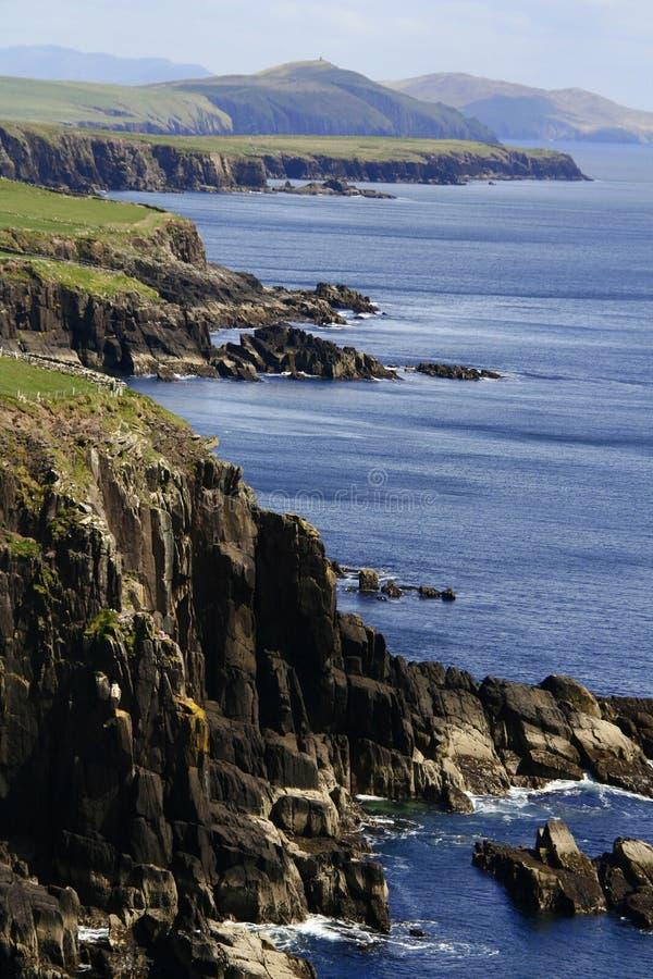 幽谷半岛,爱尔兰峭壁  免版税图库摄影