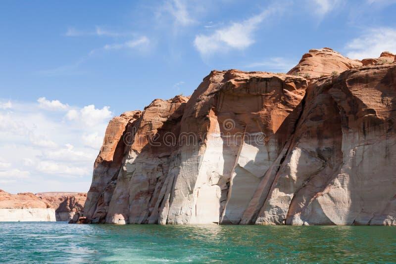 幽谷峡谷的湖鲍威尔,在犹他和亚利桑那 库存图片