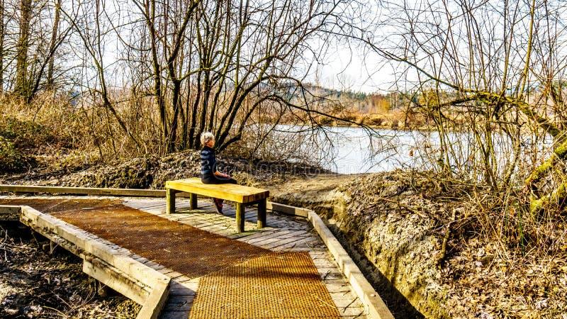 幽谷谷地方公园,堡垒兰利,不列颠哥伦比亚省,加拿大 免版税库存照片
