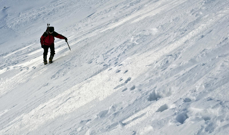 幽静的登山人 免版税图库摄影
