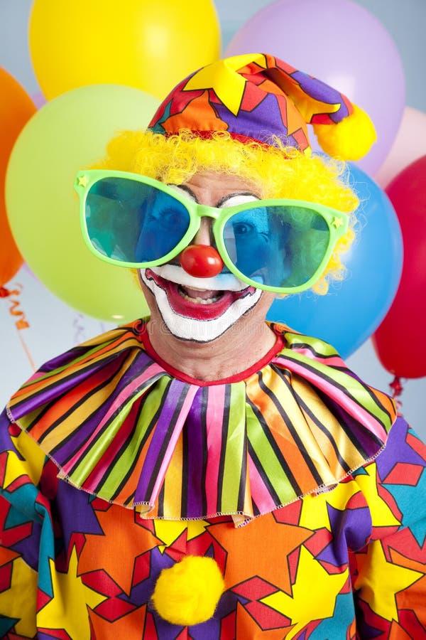 幽默生日的小丑 免版税库存照片