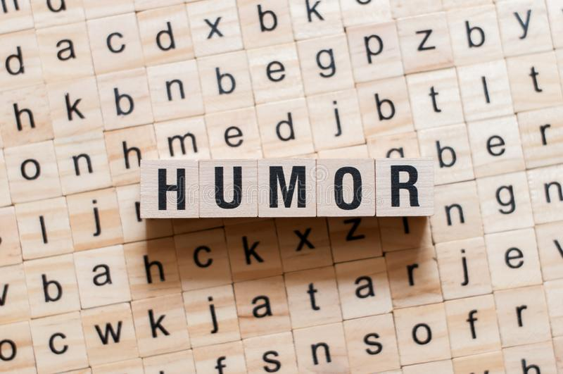 幽默词概念 库存图片