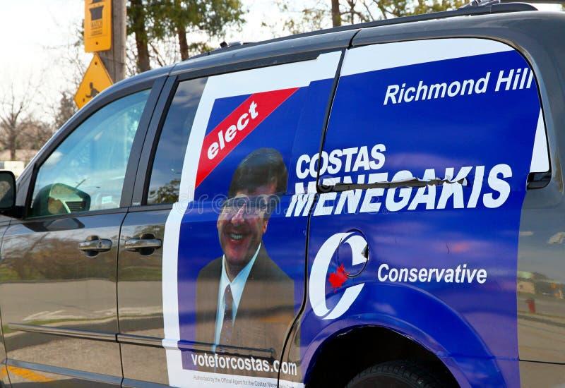 广告候选人保守主义者 库存图片