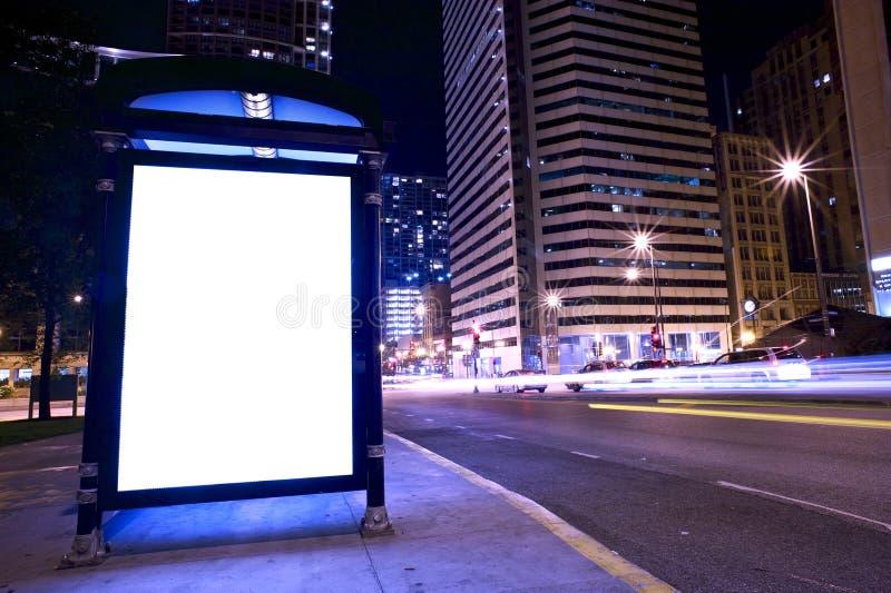 广告公共汽车显示终止 库存图片