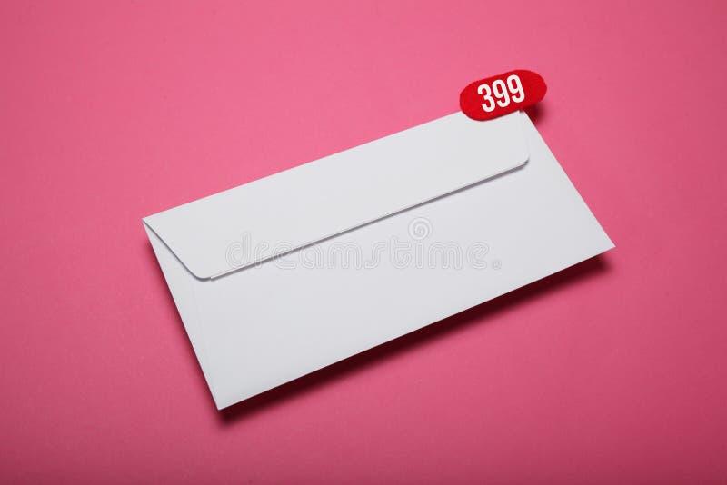 广告地址书信,空插件 ?? 免版税库存图片