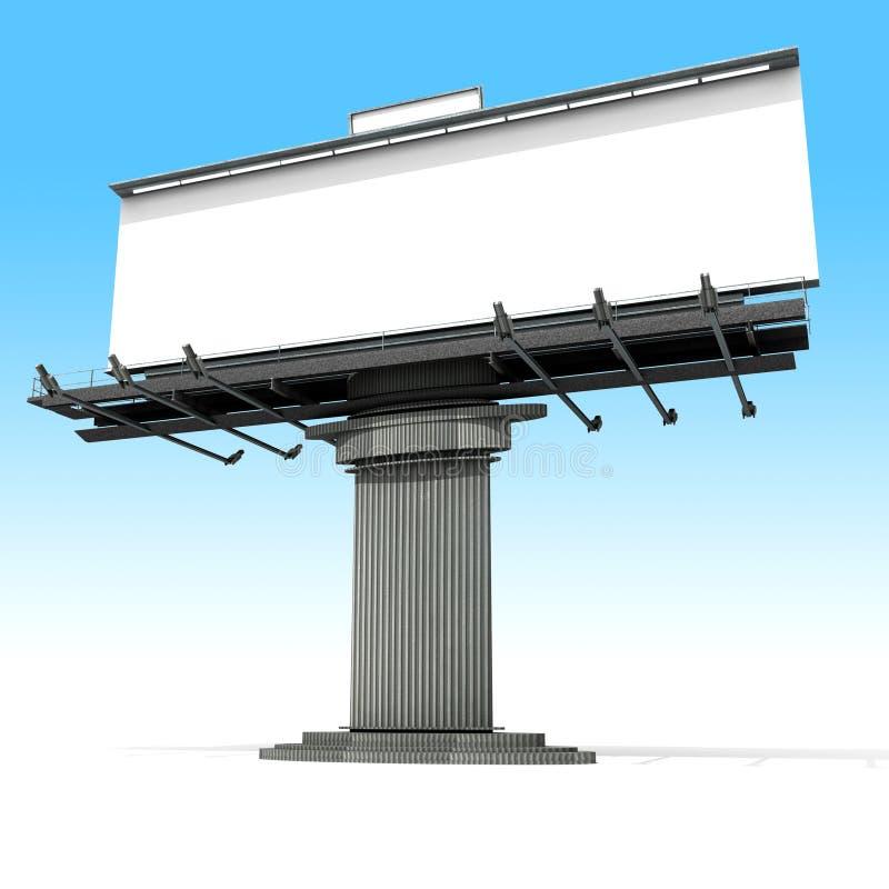 广告广告牌空白 库存例证
