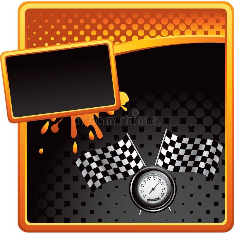 广告标记半音赛跑的车速表 皇族释放例证