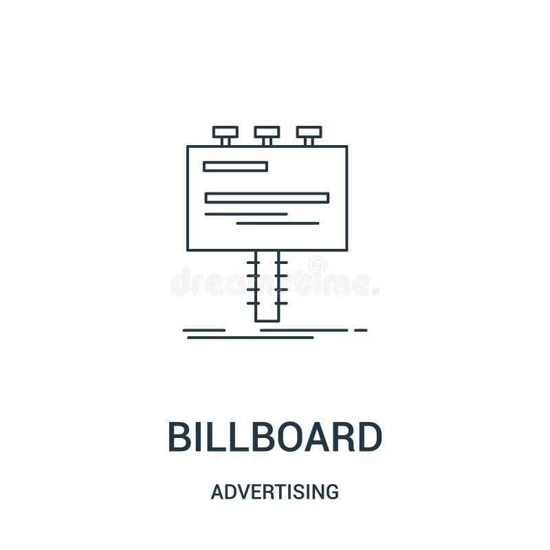广告牌从给汇集做广告的象传染媒介 稀薄的线广告牌概述象传染媒介例证 线性标志为使用 库存例证