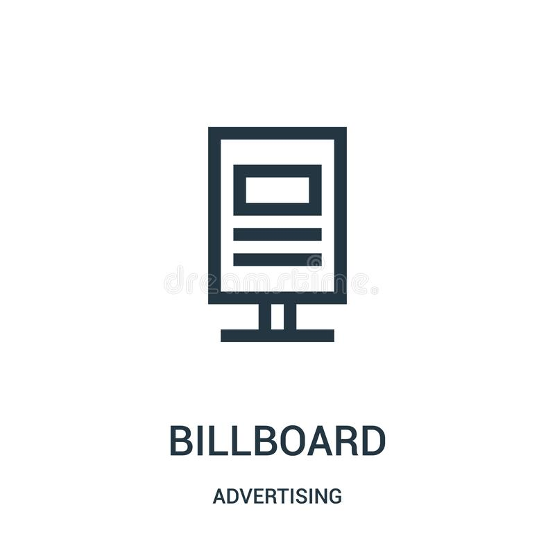 广告牌从给汇集做广告的象传染媒介 稀薄的线广告牌概述象传染媒介例证 皇族释放例证