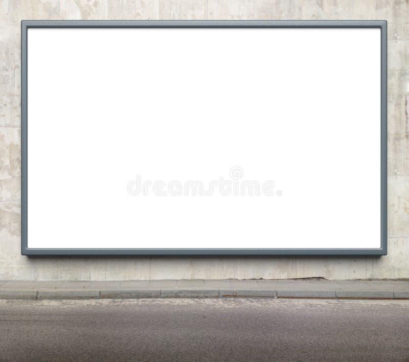 给广告牌做广告 库存图片