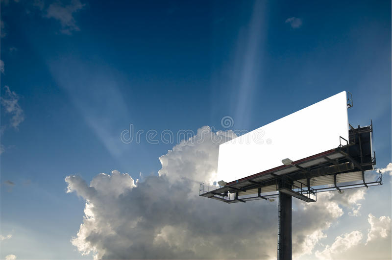 广告牌天空 库存照片