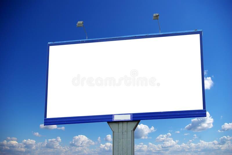广告牌天空 库存图片