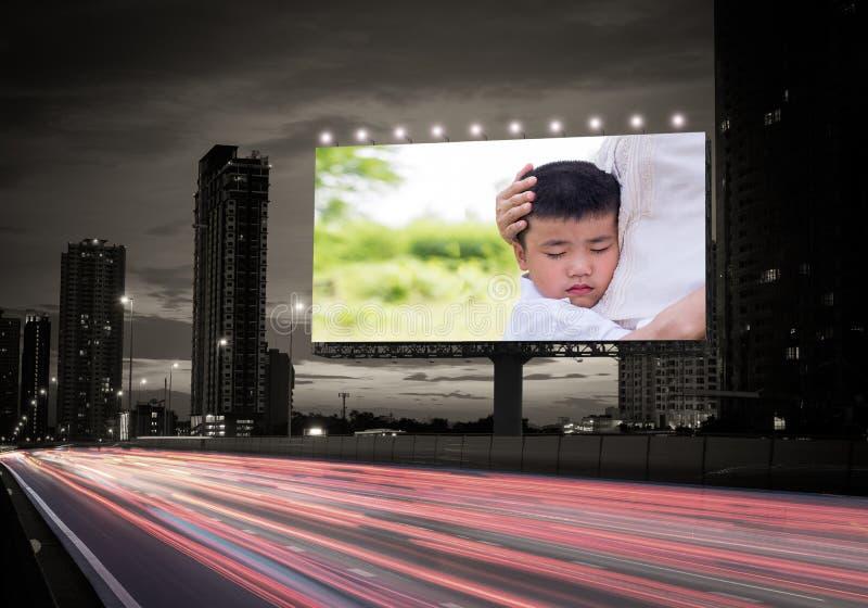 广告牌家庭 库存图片