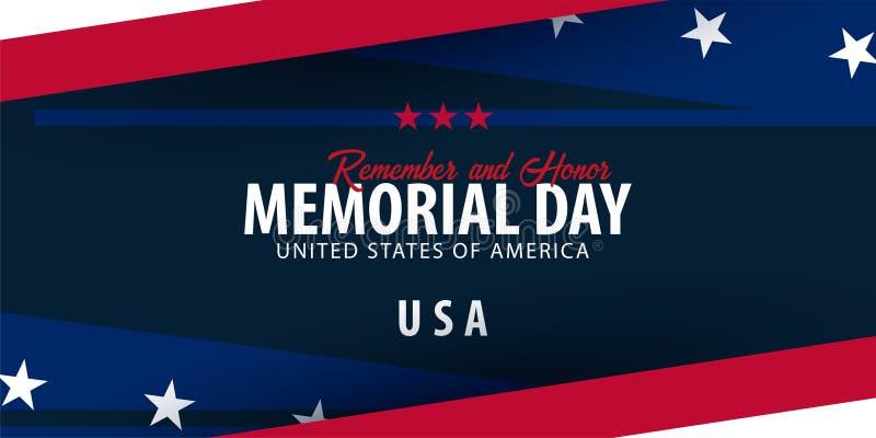 广告牌日查出的纪念白色 记住并且尊敬 美国 美国国旗 皇族释放例证