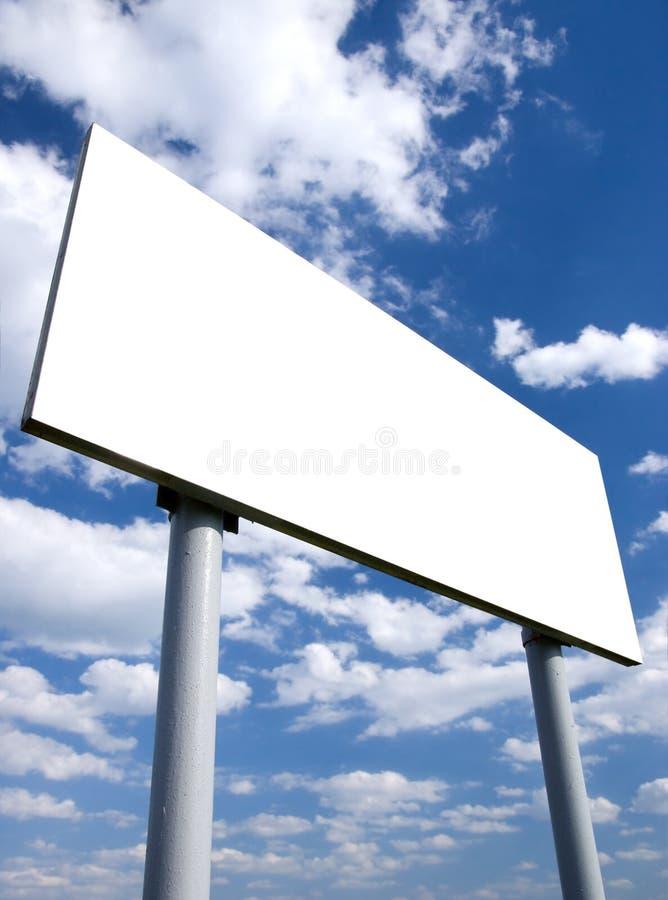 广告牌空白白色 免版税库存图片