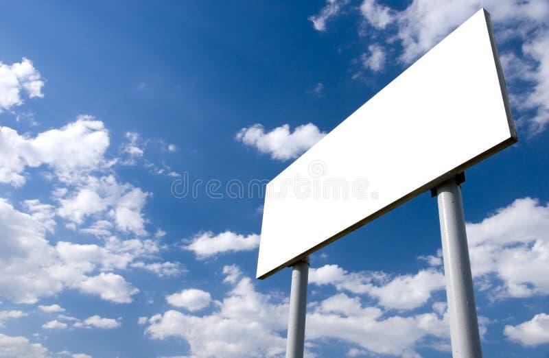 广告牌空白白色 免版税库存照片