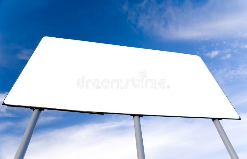 广告牌空白 免版税库存图片