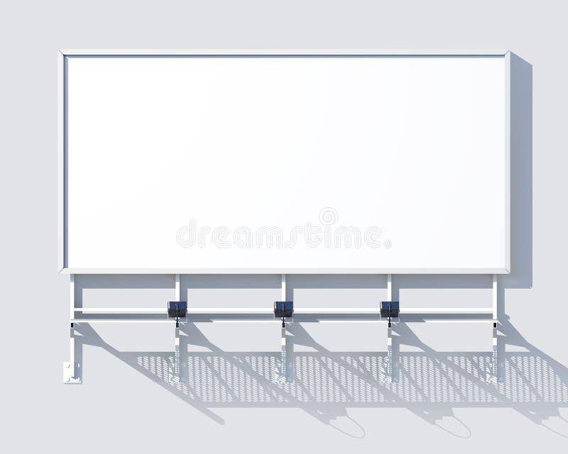画廊广告牌空白 皇族释放例证
