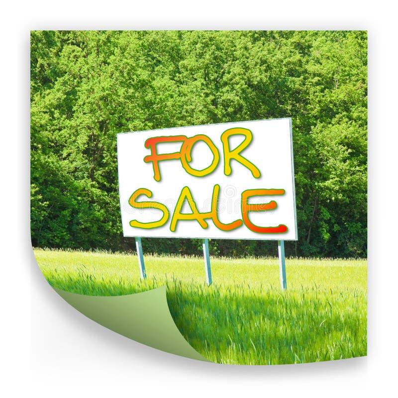 广告牌通知土地是自由被卖-概念图象 库存照片