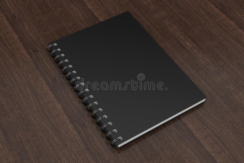 广告的或烙记的模板空白的笔记本黑色大模型 3 皇族释放例证