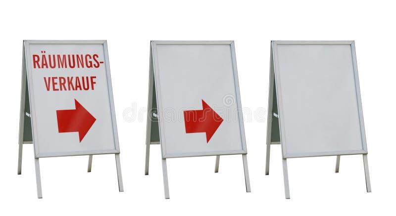 广告董事会查出三白色 免版税库存照片