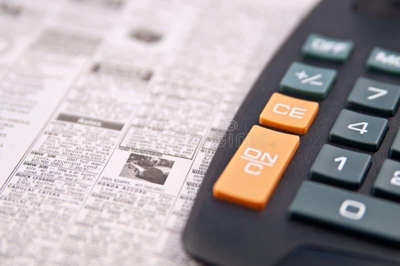 广告被分类的财务职务列表 免版税库存图片