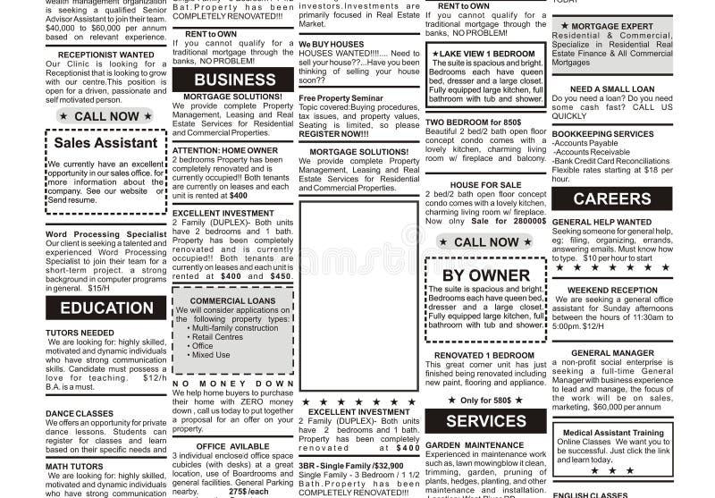 广告被分类的教育雇主ged高单个学校寻找 库存例证