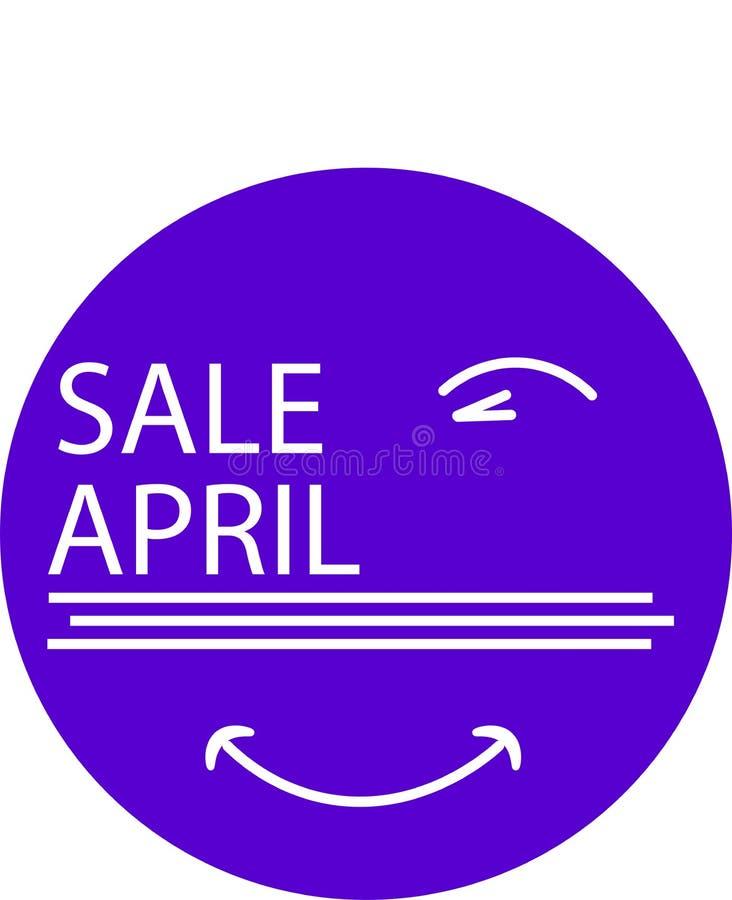 广告象为您的与眼睛的产品销售4月月 库存图片