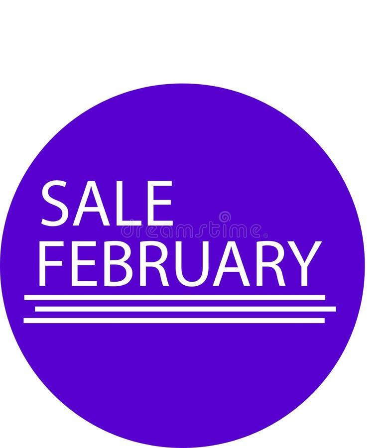 广告象为您的产品销售2月月 皇族释放例证
