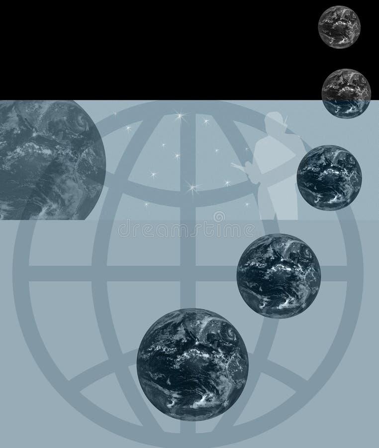 广告通信全球海报 向量例证