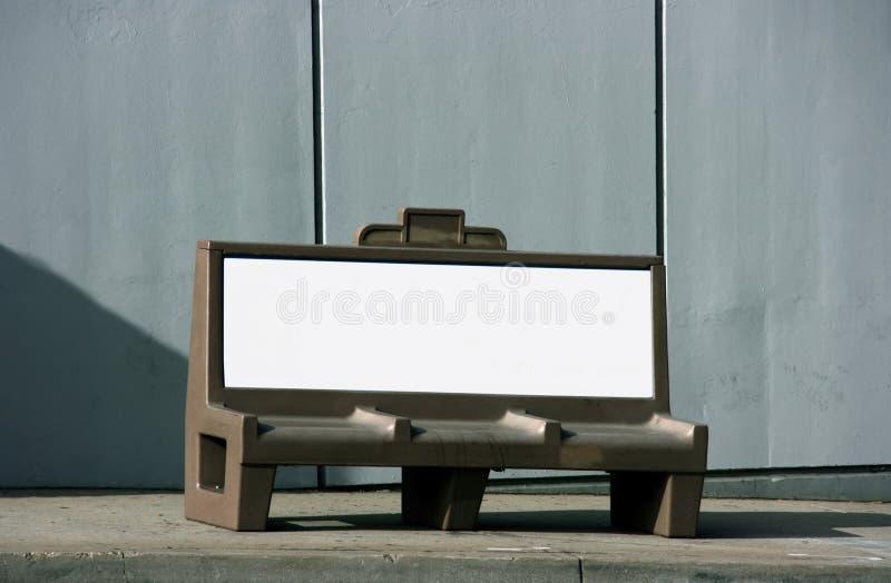 广告长凳 免版税库存照片