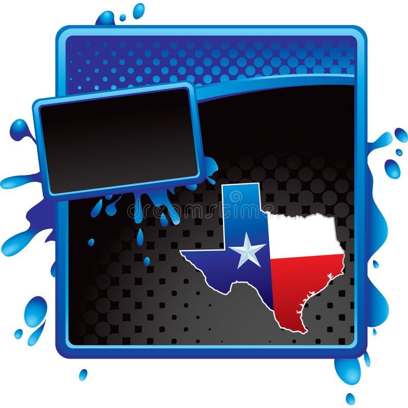 广告黑色蓝色grunge半音图标得克萨斯 向量例证