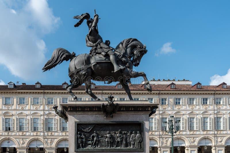 广场圣克罗在都灵,意大利 库存照片