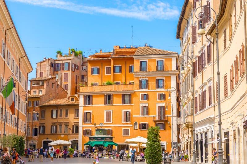 广场圣洛伦佐在罗马 免版税库存照片