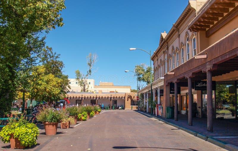 广场在圣菲,新墨西哥 免版税库存图片
