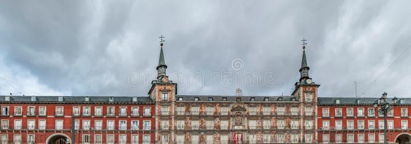 广场市长正方形在马德里,西班牙 库存照片