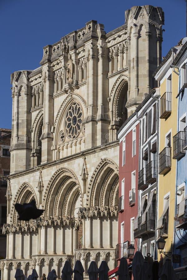 广场市长的五颜六色的大厦的细节和大教堂, 免版税图库摄影