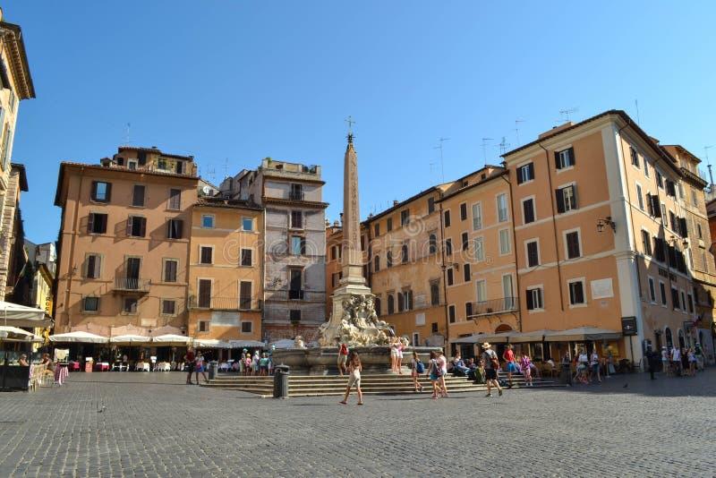 广场德拉Rotonda在罗马,意大利 万神殿的正方形 库存照片