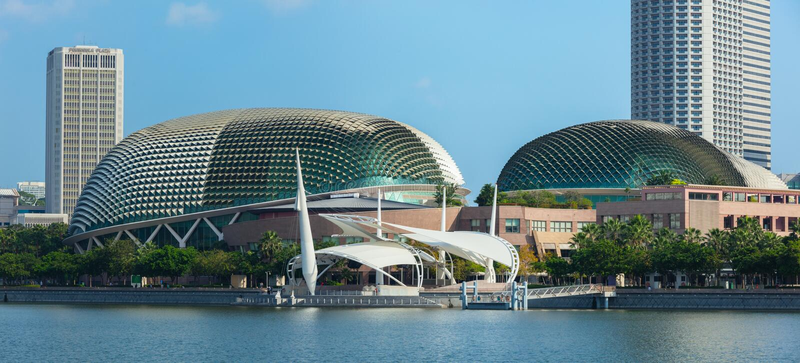 广场新加坡剧院 免版税图库摄影