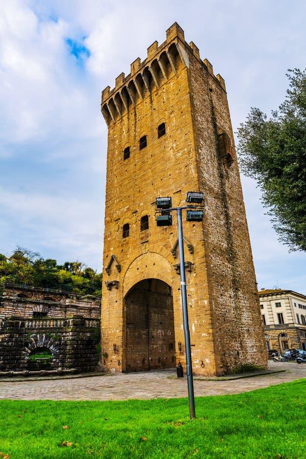 广场朱塞佩Poggi在佛罗伦萨,意大利 库存图片